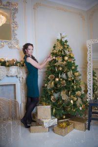 Новогодние фотосессии девушек в студии Москвы и области