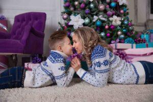 Новогодняя фотосессия в свитерах