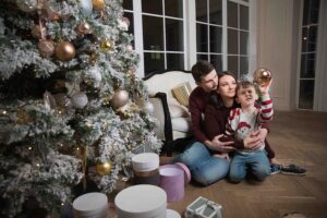 Новогодняя фотосессия с семьей