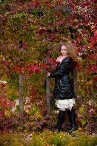 Осенние фотосессии девушек на природе в Москве