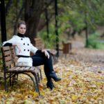 Осенняя фотосессия девушек в парке