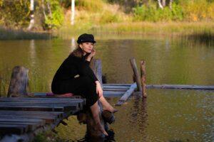 Осенняя фотосессия у реки