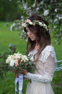 Постановочная свадебная фотосессия в Москве