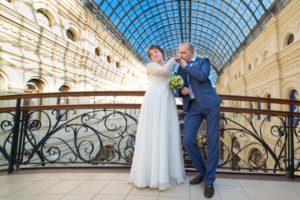 Свадебная фотосессия в ГУМе зимой