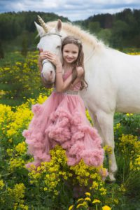 Фотосессия единорог детская