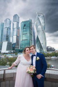 Фотосессия на фоне Москва сити
