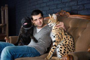 фотосессия с Сервалом в Москве, фотограф в Москве Сергей Грачёв