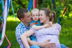 семейная фотосессия беременной