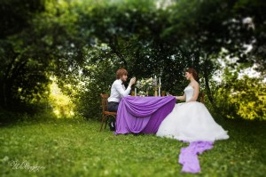 Свадебная съемка в Москве на природе