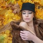 фотосессия на улице осенью позы