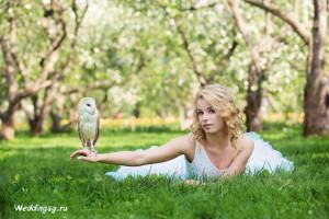 Свадебная фотосессия с совой