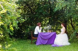 Свадебная фотосессия с декором на улице