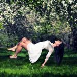 фото левитации в парке