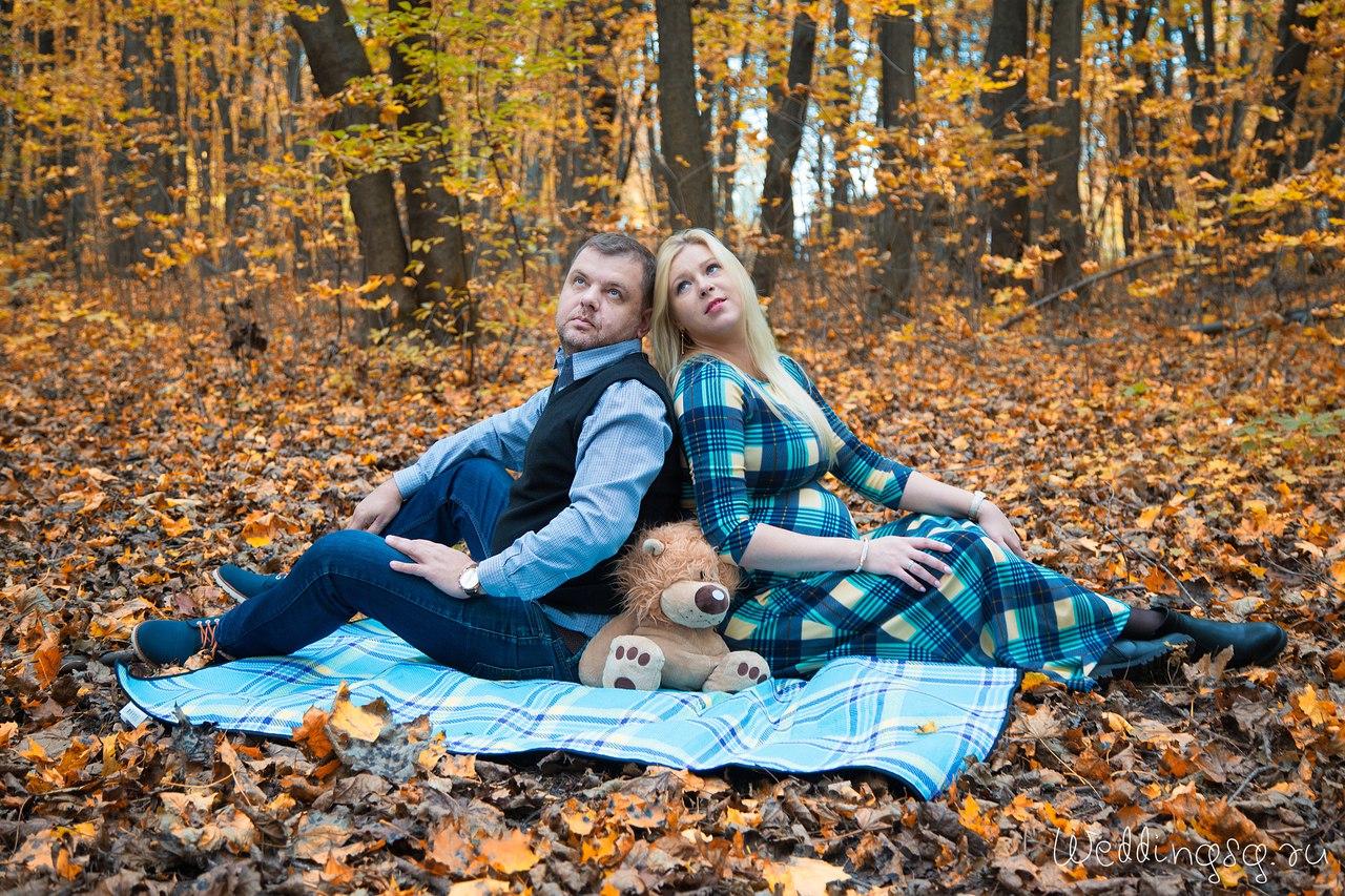 Беременныесессии на природе с мужем