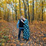 Осенняя фотосессия беременной с мужем