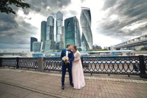 Свадебная фотосессия Москва сити