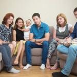 семейная фотосессия дома с детьми