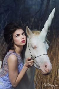 Фотосессия с лошадью, фотосессия с единорогом