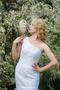 свадебная фотосессия с совой в Москве