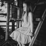 детская весенняя фотосессия