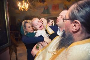 Таинство крещения в Звенигороде