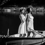 фотосессия на улице в лодке