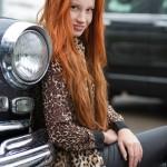 фотосессия на улице рыжих девушек