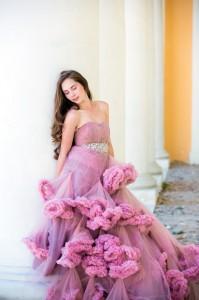фотосессия в красивом платье в Москве